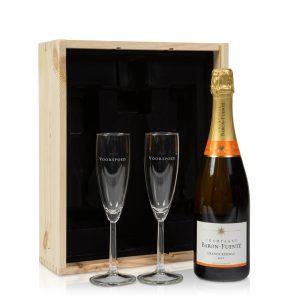 Champagne met glazen cadeau