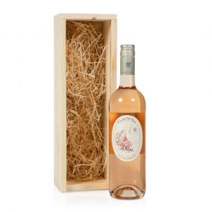 Rosé wijn in kistje
