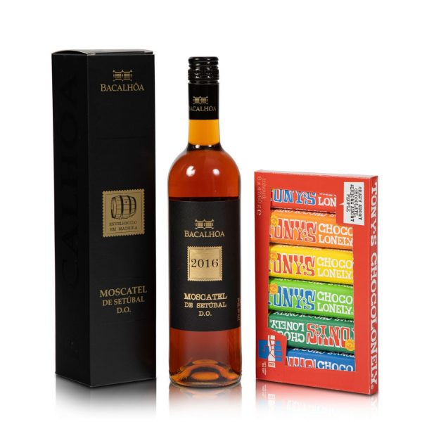 Wijn en chocolade pakket