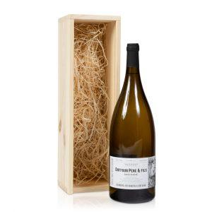 Magnum witte wijn in kistje