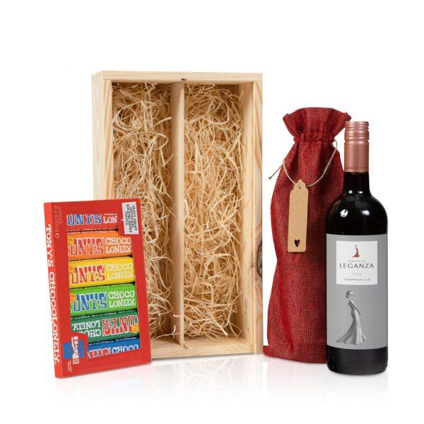 Rode wijn met chocola