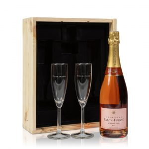 Rosé Champagnepakket met glazen